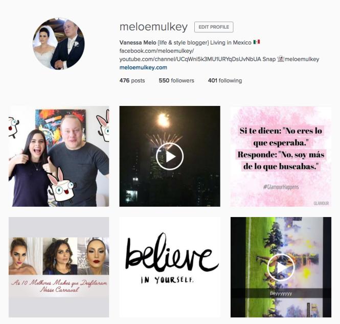 Instagram Melo e Mulkey